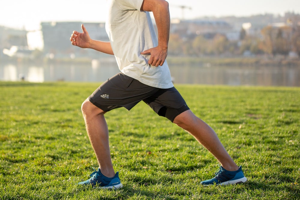 Runner showing stance